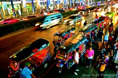 Bangkok's Heartbeat (A_Sarkar) Tags: auto road street city travel light color colour cars tourism night mall shopping thailand nikon cityscape traffic bangkok transport tourists thai shops local tuk tuks thailandstreet d7000