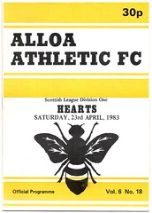 ALLOA ATHLETIC v HEARTS 1982-83 (bullfield) Tags: alloaathletic alloa hearts insect 1983 heartofmidlothian wasp