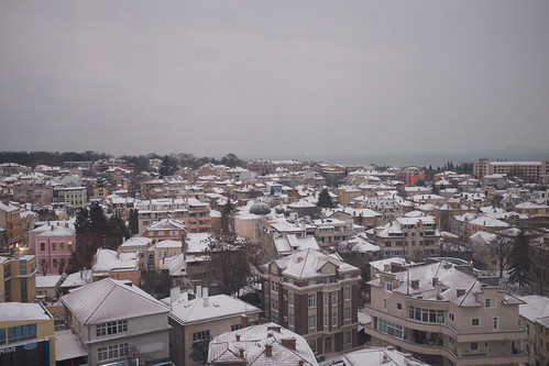 Snowy morning in Burgas ©  Still ePsiLoN