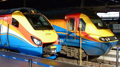 EMT Class 43 HST 43089 & Class 222 Meridian 222022 - London St Pancras (NewSpectrum) Tags: london car st speed train high power rail railway trains class east multiple pancras emt dme meridian 222 intercity 43 midlands unit 125 hst demu valenta 43089 vp185