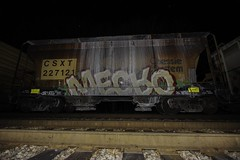 Mecro (Revise_D) Tags: railroad graffiti trains revise graff tagging freight revised cdc trainart fr8 mecro bsgk benching fr8heaven fr8aholics revisedesigns revisedesign fr8bench benchingsteelgiants