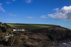 Clonea (Spookwoman) Tags: sea landscape seaside scenery cottage cliffs hills hillside waterford clonea thatched