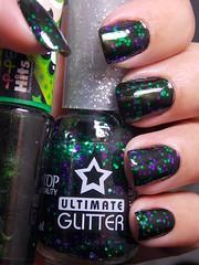 Elemento X - Hits + Halloween - Top Beauty (Natalia Breda) Tags: verde glitter hits desafio topbeauty esmaltenacional