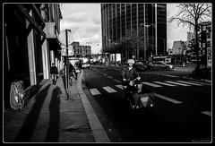 Montparnasse (Maestr!0_0!) Tags: street shadow urban white black paris bike candid ombre rue montparnasse velo noirblanc urbain