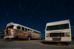 Last Stop For the First Church (dejavue.us) Tags: california longexposure nightphotography lightpainting bus abandoned nikon desert fullmoon junkyard rv nikkor motorhome startrails mojavedesert d800 1835mmf3545d vle