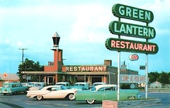 Green Lantern Restaurant, circa 1957 (Railroad Jack) Tags: