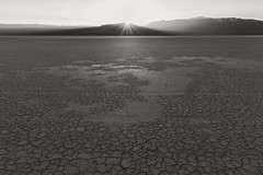 Alvord Desert (Explore) (Joshua Johnston Photography) Tags: sunset blackandwhite oregon desert highdesert alvorddesert sunstar landscapephotography oregonhighdesert southeasternoregon canon6d canon24mm28is