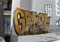 (Great Job) Tags: sf graffiti sticker san francisco mta amc grief