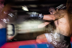 Sparring @ Sassom (Benicio Murray) Tags: motion blur fight flash thai boxing fitness gym strobe bjj sassom