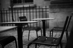 Empty Chairs #2 (julienautier) Tags: white black france canon chairs empty seats 5d markiii
