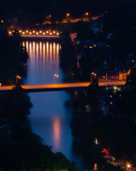 Bridges (tom.leuzi) Tags: city longexposure bridge urban reflection water night river lights schweiz switzerland zoom nacht tele bern brcke fluss berne starburst lichter starlight telezoom sunstar lighttrail canonef70200mmf4lisusm canoneos6d