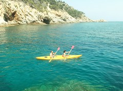 179 (bryony.harper) Tags: blue holiday yellow spain place it row already stunning waters miss such