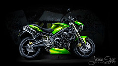 Triumph Street Triple (jasoncstarr) Tags: longexposure nightphotography bridge lightpainting green composite photoshop canon graffiti cool motorcycles bikes sigma motorbike triumph sportbike 1020mm lightroom sportsbike armidale lightpainted 70d nakedbike triumphstreettriple canoneos70d