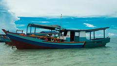 I heart Belitung ^__^ (yemaria) Tags: blue sea beach indonesia boats island nikon raw traditional belitung lengkuas tanjungkelayang tanjungpandan tanjungbinga belitong pulaulengkuas yemaria d800e