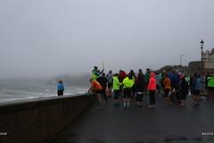 Briefing (Adrian Midgley) Tags: seaton parkrun 001 20161112 first edition firstedition shingle beach mist sea 1755 admin prestart volunteer