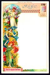 Liebig Menu Card - Floral Kingdom (cigcardpix) Tags: tradecards advertising ephemera vintage chromo liebig menu