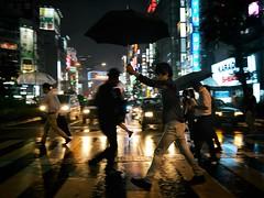 Shibuya Crossing (jameslosey) Tags: shibuya tokyo japan canon6d canon1635 rain raining umbrellas crossing crosswalk night