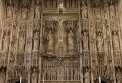 Winchester Reredos (Lawrence OP) Tags: winchester cathedral gothic reredos crucifixion rood saints bishops jesuschrist ourlady stjohntheevangelist chad