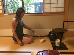 Trying out Japanese tea ceremony (Kyoto, Japan) (steepingyogi) Tags: tea asia matcha japanese teaceremony kyoto japan