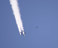 Knights and Leap Frogs Free Fall (dcnelson1898) Tags: marinecorpsairstationmiramar marinecorps marines sandiego california mcasmiramar 2016mcasmiramarairshow airshow airplanes jets helicopters goldenknightsparachuteteam leapfrogs usarmy usnavy parachute freefall
