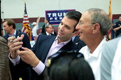 Donald Trump, Jr. with supporters (Gage Skidmore) Tags: donald trump jr campaign rally father son sun devil fitness center arizona state university tempe