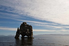 Hvitserkur arch (Matteo Andreozzi) Tags:  iceland islande islandia islanda     nature light adventure landscape dream unknown water sun sky earth green blue brown breathe panorama quiet stillness beauty life world paradise black red national geographic colors wilderness mist waterfall river volcano ice snow fire grass wind mistery lava moss hole hvitserkur arch
