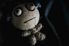 FrankPINstein (NVOXVII) Tags: macromondays hmm halloween frankenstein spooky scary esoteric blackbackground figure toy nikon dark haunting cold voodoo voodoodoll pins needles october