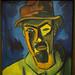 Self-Portrait with Hat - Karl Schmidt-Rottluff - Cleveland Museum of Art
