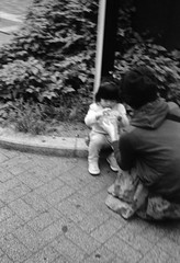 REFUELING (Dinasty_Oomae) Tags: minolta  minoltina  minoltinas s   tokyo   monochrome outdoor street bw blackwhite blackandwhite  akihabara  chiyodaku  kandasakumacho