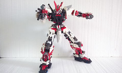 LEGO Astray Gundam [ Red Frame ] MBF-P02 (demon14082001) Tags: astray gundam mobile suit red frame lego mpfp02 seed mbfp02 perfect grade robot mecha destiny toy nn trng