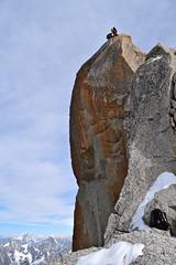 Haute Montagne .... High Mountain... 1 (CHAM BT) Tags: montagne alpinisme alpiniste rocher granite ascension arrive massif montblanc rebuffat mountain alpinism rock granit climbing arrival escalade voie