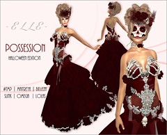 -E L L E- Possession - Halloween Edition (AdelleBelle) Tags: elle mesh body applier omega tmp belleza slink maitreya formal elegant evening dress long platinum group special edition second life sl gift hunt halloween