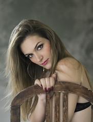 Adriana (lespilar) Tags: 50mm naturallightportrait beauty face eyes hair model