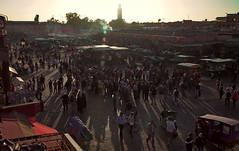 Piazza Jemaa el-Fna al tramonto (giulio.pedretti) Tags: marrakech marocco sunset market mosque