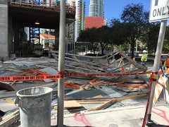 Echo Brickell Scaffolding Collapse (Phillip Pessar) Tags: scaffold echo brickell sceneofthecrime miami