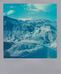 Red Rock Canyon (bowerbirdnest) Tags: desert nevada california death valley deathvalley lakemead polaroid polaroid600 sx70 sx70sonar theimpossibleproject