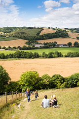 On Giant Hill in #Dorset (Joe Dunckley) Tags: alfred cerneabbas cernevalley dorset dorsetdowns england hannah middorset ross uk agriculture arable crop farm farming field frankie hill landscape myfamily nature pasture people person rollinghills rollinglandscape summer sunny valley