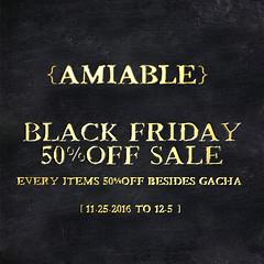 {amiable}BLACK FRIDAY SALE2016 & Special thanks Group Gift. (nodoka Vella) Tags: amiable {amiable} sl secondlife black friday sale 2016 blackfriday 50off mesh loki nodoka nodokavella