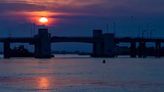 Sun Going Down (Bob90901) Tags: sun captreestatepark longisland newyork sunset summer goldenhour boatchannelbridge bridge sky waterfront shore seaside evening islip rpg90901 2016 september 1859 canon 6d canonef70200mmf28lisiiusm canon70200f28lll water