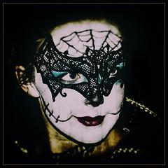 Charlotte (Iain McGregor) Tags: girl night spooky black spider bat makeup flash canon creepy fun