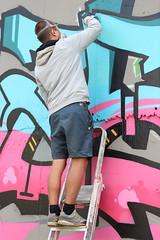 Action (masko149) Tags: mask masko maskone minsk festival brasil 2016 action mtn black summer procces colors letters graffiti spray pink blue