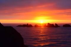 #PicOfTheDay Sunset between rocks on the beach (Candidman) Tags: sunset between rocks beach sky orange sea ocean water
