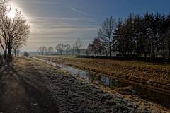 IMG_9972_DxO Sunday walk Sonntagsspaziergang (Wallus2010) Tags: frost raureif grosmoor niedersachsen germany sonne dezember wasser bach gegenlicht weg canon eos70d tamron 16300 weitwinkel eis frozen