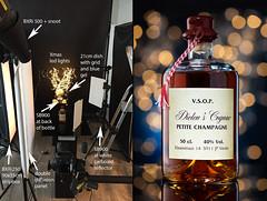 Lighting practice (martin wilmsen) Tags: nikon 105mm macro elinchrom d800e bts setup studioshot strobist whisky bottle bokeh skyport