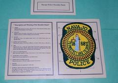 Navajo Shoulder Patch (Navajo Tribal Police) (appaIoosa) Tags: appaloosa appaloosaallrightsreserved arizona chinle az holidayinncanyondechelly garciastradingpost din naabeeh navajopolice navajotribalpolice navajopoliceshoulderpatch policeshoulderpatch chinleaz