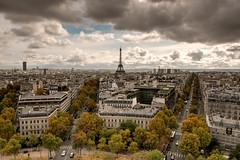 Paris (petia.balabanova(tnx for +2 million views)) Tags: viewfromarcdetriomphe toureiffel skyline cityscape paris france city view nikond800 2470mm travel buildings autumn sky clouds