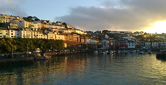 Brixham harbour (southglosguytwo) Tags: 2016 autumn buildings cameraphonephoto devon october torbay boats brixham cloud harbour sky