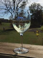 Vineyard in a glass (kgpnative) Tags: wines plantation grapes trees wine seasons changingseason reflections fall fallingleaves appalachian virginia vineyard nature