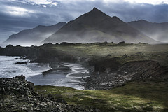 Misty mountain somewhere in SE Iceland (ChrisKirbyCapturePhotography) Tags: iceland mountain mist sea fog seafog seamist
