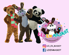 Company Logo (tsundet) Tags: teddybear panda rabbit costume teddybjrn bamse logo easterbunny mascot maskot mascotte pskehare bearcostume pandasuit pandacostume